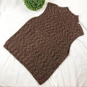 Pendleton mock neck sleeveless knit sweater vest